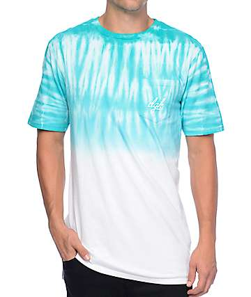 DGK Shade Teal Dip Dye Pocket T-Shirt