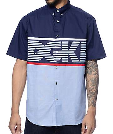 DGK Stadium Blue Button Up Shirt