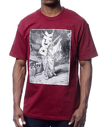 DGK Support Burgundy T-Shirt