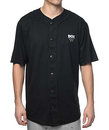 DGK Technique Custom Black Baseball Jersey