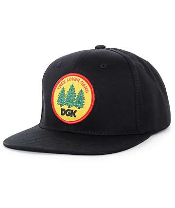 DGK Tree Lover Gang Black Snapback Hat