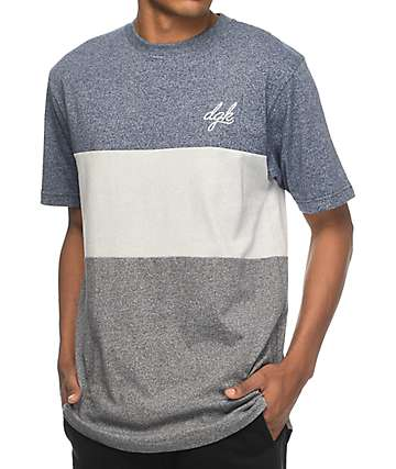 DGK Tri Custom Navy & Grey Knit T-Shirt