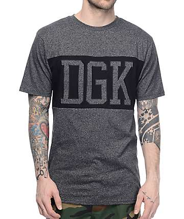 DGK Venue Charcoal Knit T-Shirt