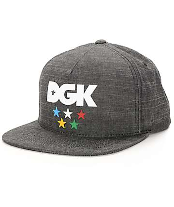 DGK Versus The World Charcoal Snapback Hat