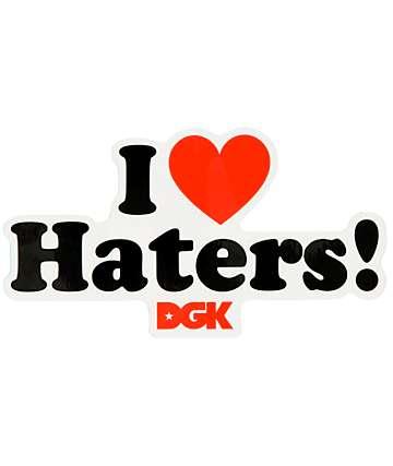 DGK pegatina I Love Haters
