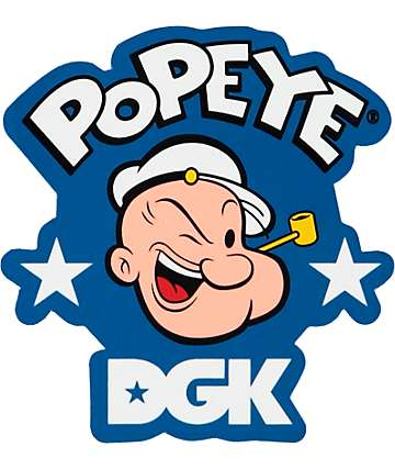 DGK x Popeye Strong Sticker