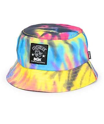DGK x Popeye Tie Dye Bucket Hat