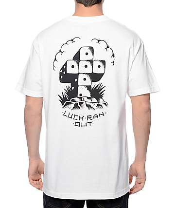 DROPOUT CLUB INTL Dan Coy Dice White T-Shirt