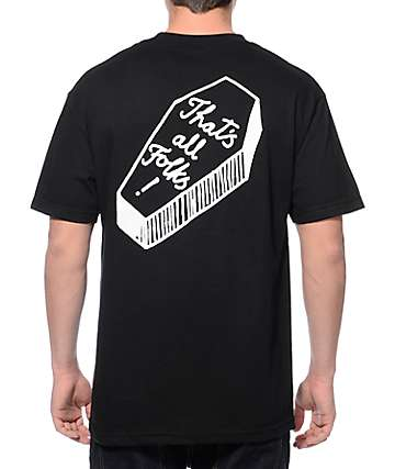 DROPOUT CLUB INTL Drug Store Coffin Black T-Shirt