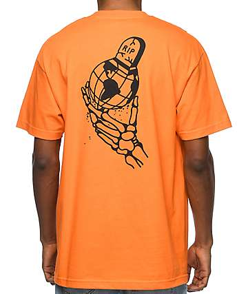 DROPOUT CLUB INTL Kyle Grand RIP World camiseta en color naranja