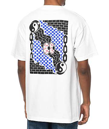 DROPOUT CLUB INTL Matthew Miller Lock Up White T-Shirt