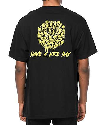 DROPOUT CLUB INTL X Funeral French Nice Day Black T-Shirt