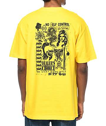 DROPOUT CLUB INTL X Noel Boyt Dealers Choice Yellow T-Shirt