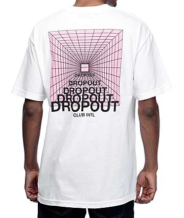 DROPOUT CLUB INTL Zorched White T-Shirt