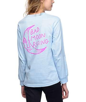 DROPOUT CLUB INTL. Drug Store Bad Moon camiseta azul de manga larga