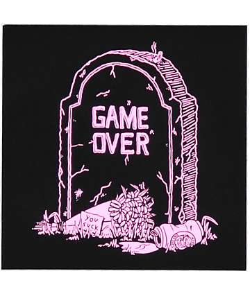 DROPOUT CLUB INTL. Game Over Sticker