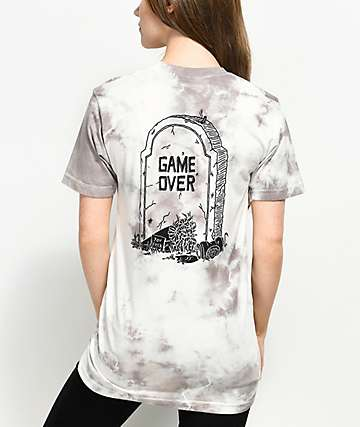 DROPOUT CLUB INTL. Game Over Tie Dye T-Shirt