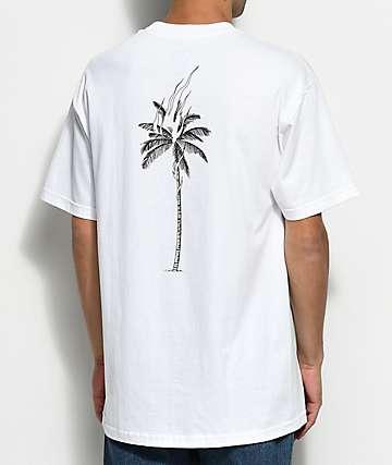 DROPOUT CLUB INTL. Palm Flame Nathan Kostechko camiseta blanca