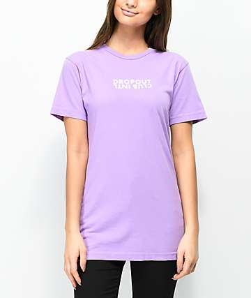 DROPOUT CLUB INTL. Stay Eat Do Lavender T-Shirt