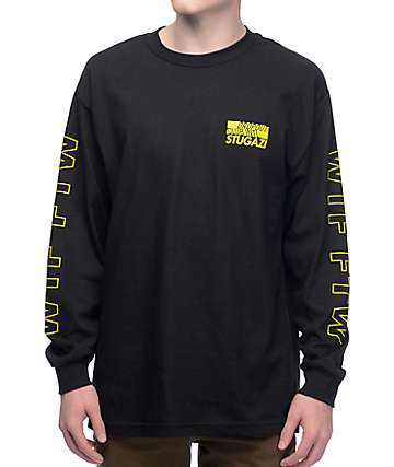 DROPOUT CLUB INTL. Stugazi WTF FTW Black Long Sleeve T-Shirt