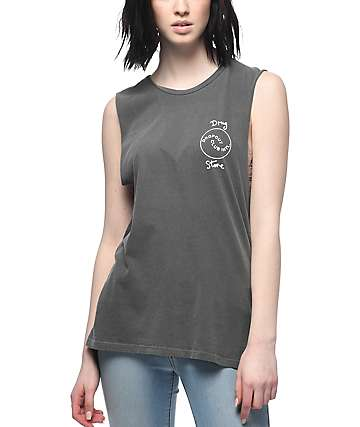 DROPOUT CLUB INTL. Thats All Folks Grey Muscle Tank Top