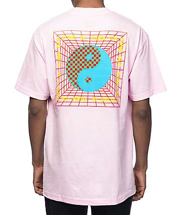 DROPOUT CLUB INTL. Tune In Pink T-Shirt