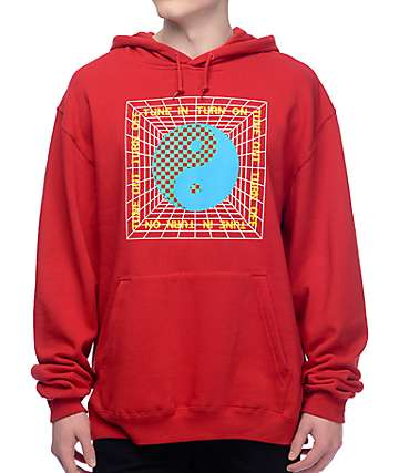 DROPOUT CLUB INTL. Tune In Red Hoodie