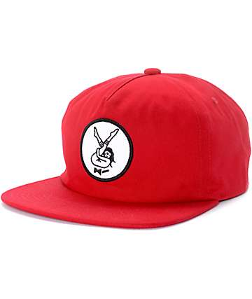 DROPOUT CLUB INTL. X  Kyle Grand 4 Men Red Snapback Hat