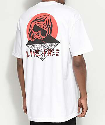 DROPOUT CLUB INTL. X Death Cloak Paradise White T-Shirt