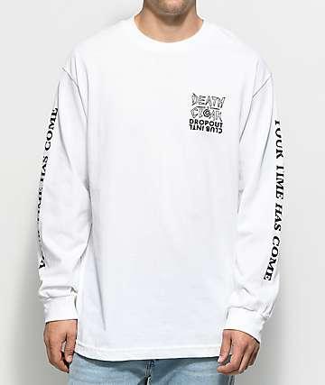 DROPOUT CLUB INTL. X Death Cloak White Long Sleeve T-Shirt