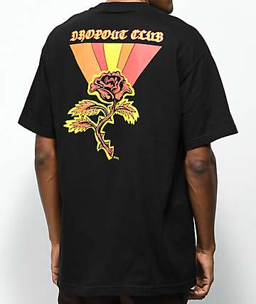 DROPOUT CLUB INTL. x Boss Dog Rose Black T-Shirt