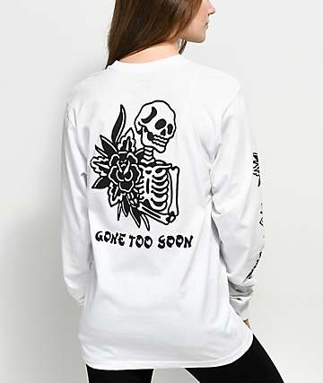 DROPOUT CLUB INTL. x Kyle Grand Soon White Long Sleeve T-Shirt