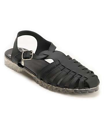 DV8 Dantri Black Jelly Sandals