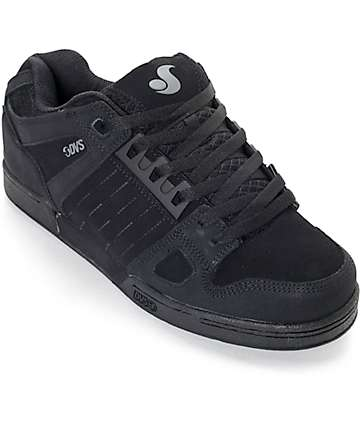 DVS Celsius Diamond All Black Skate Shoes
