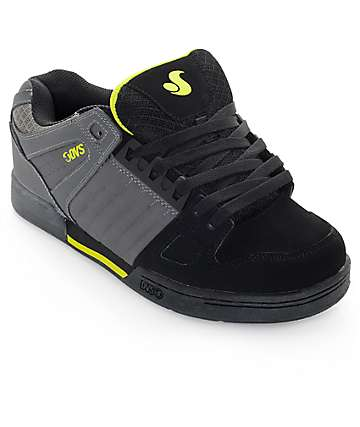 DVS Celsius Grey, Black & Lime Skate Shoes