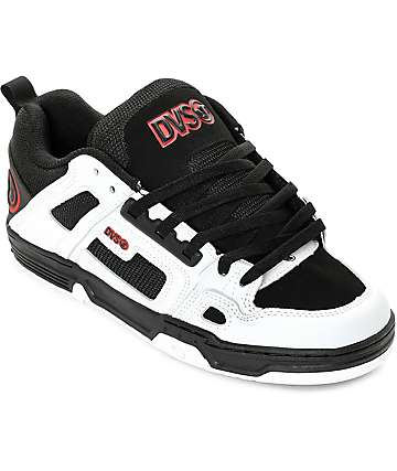 DVS Comanche Black, White & Red Skate Shoes