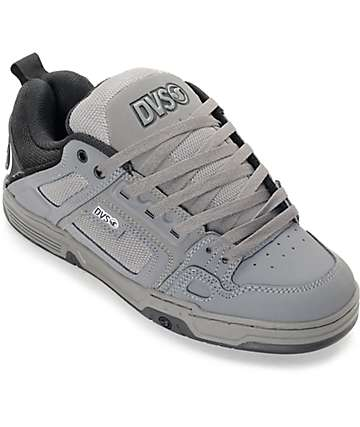 DVS Comanche Grey, Black & White Skate Shoes
