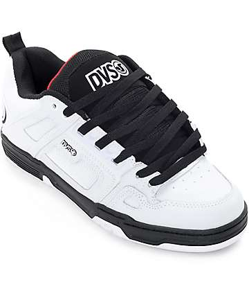 DVS Comanche White, Black & Red Skate Shoes