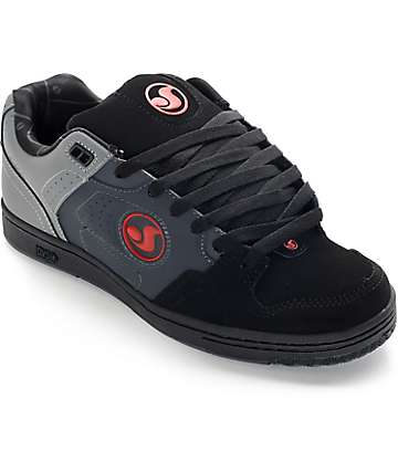 DVS Discord Deegan Grey, Black, & Red Skate Shoes