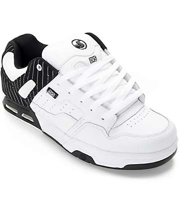 DVS Enduro Heir White & Black Skate Shoes