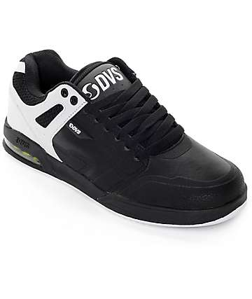 DVS Enduro X Black, White & Lime Leather Skate Shoes