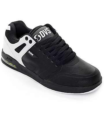 DVS Enduro X Black, White & Lime Leather Skate Shoes