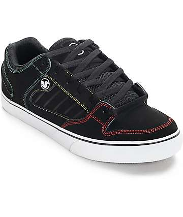 DVS Militia CT Black & Rasta Skate Shoes