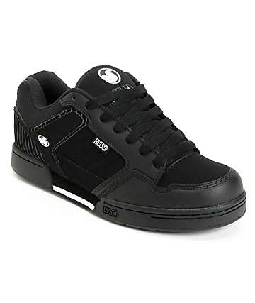 DVS Transom Black Nubuck Pin Stripe Skate Shoes