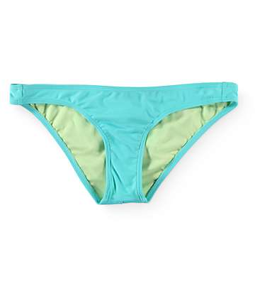 Damsel Aqua & Lime Bow Cheeky Bathing Suit Bottom