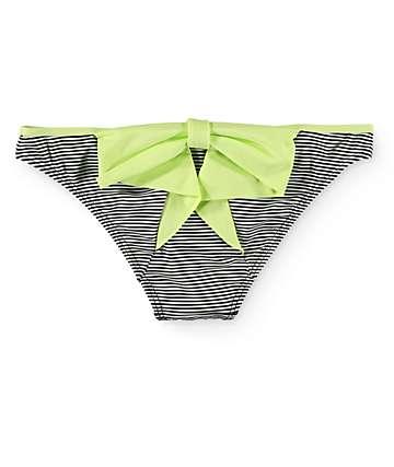 Damsel Lime Bow Mini Stripe Hipster Bikini Bottom