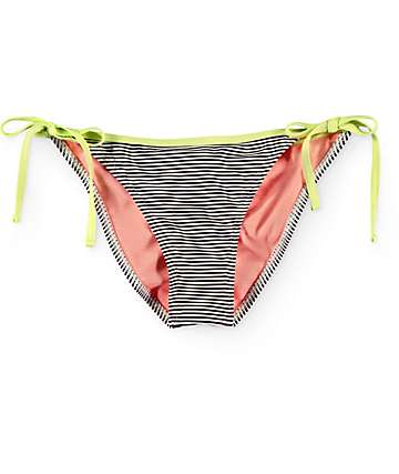 Damsel Multi Bow Mini Stripe Side Tie Cheeky Bathing Suit Bottom