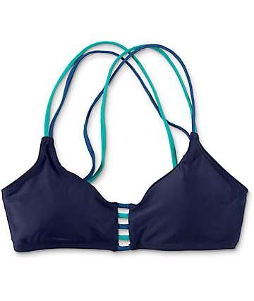 Damsel Navy Bralette Bikini Top