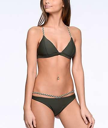 Damsel Olive Braidstrap Cheeky Bikini Bottom