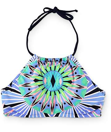 Damsel Starburst High Neck Bikini Top